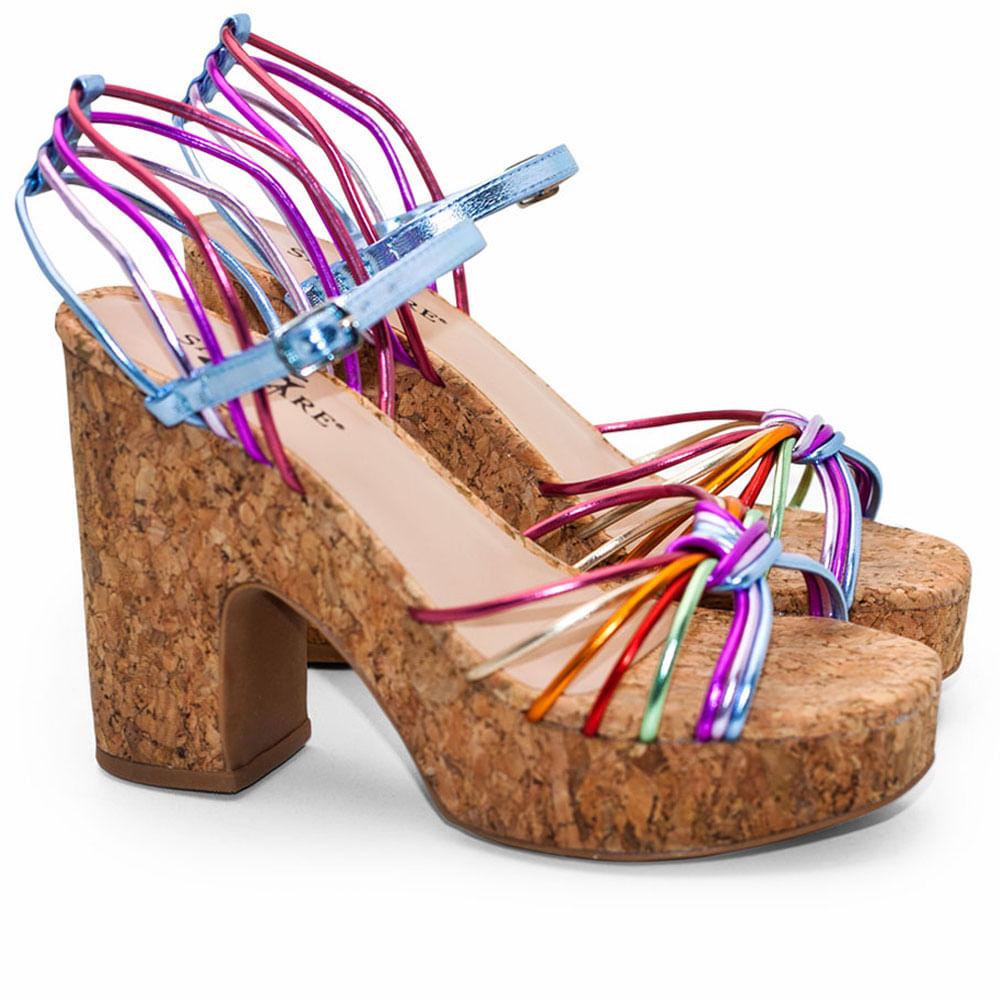 029329e06f Sandalias Saltare Jette Colorido - Calçados Femininos Saltare