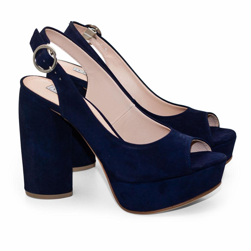 dbccf0a9d3 Sandalias Saltare Kelb Azul Marinho - Calçados Femininos Saltare