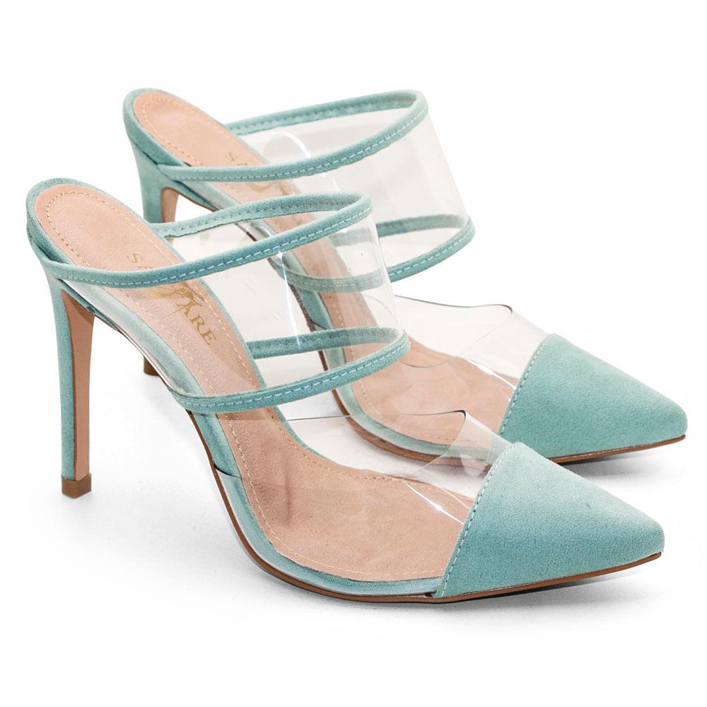 b73f69821d Sapatos Saltare Mule Vinil Alga - Calçados Femininos Saltare