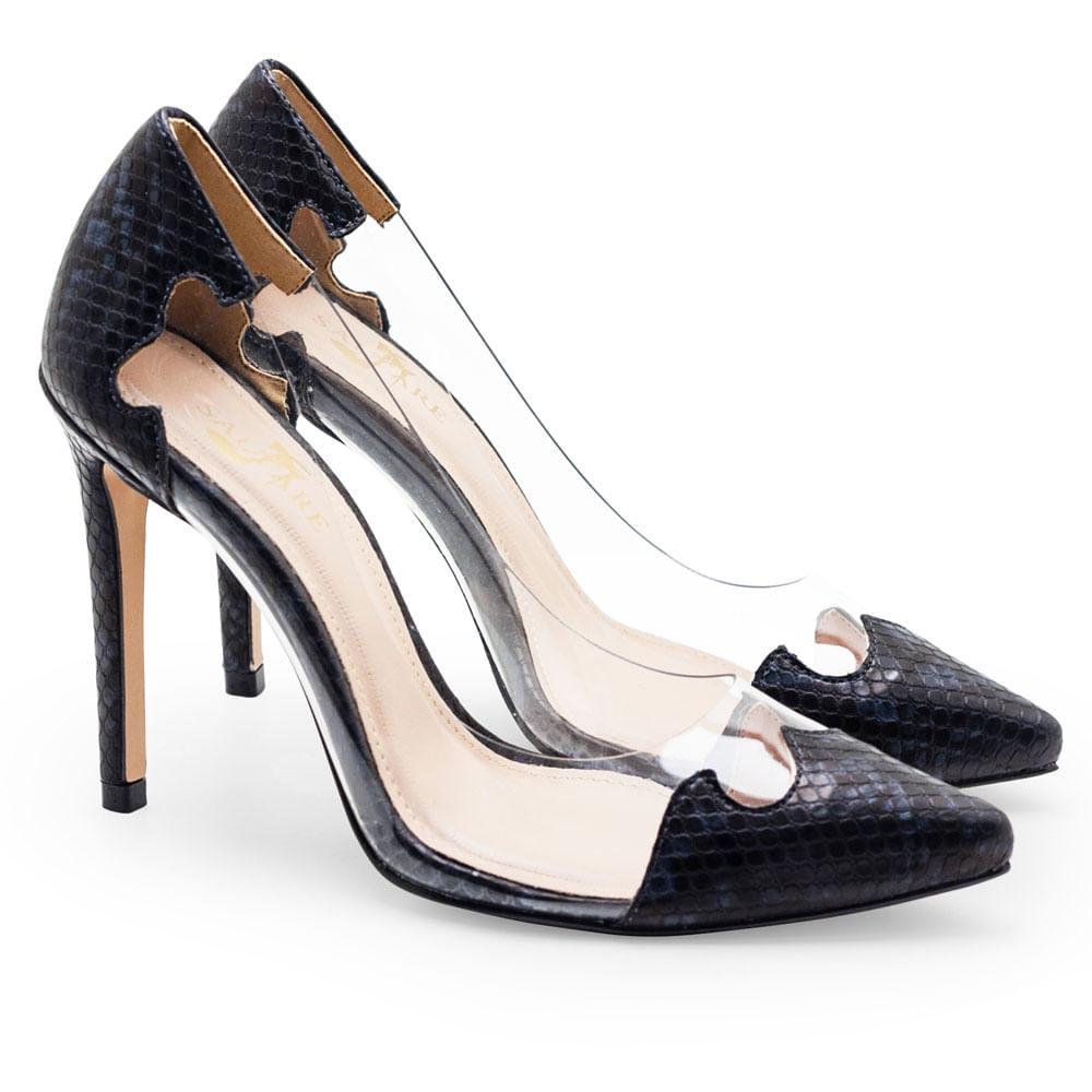 44de804adb Sapatos Saltare Vinil 1 New Preto - Calçados Femininos Saltare
