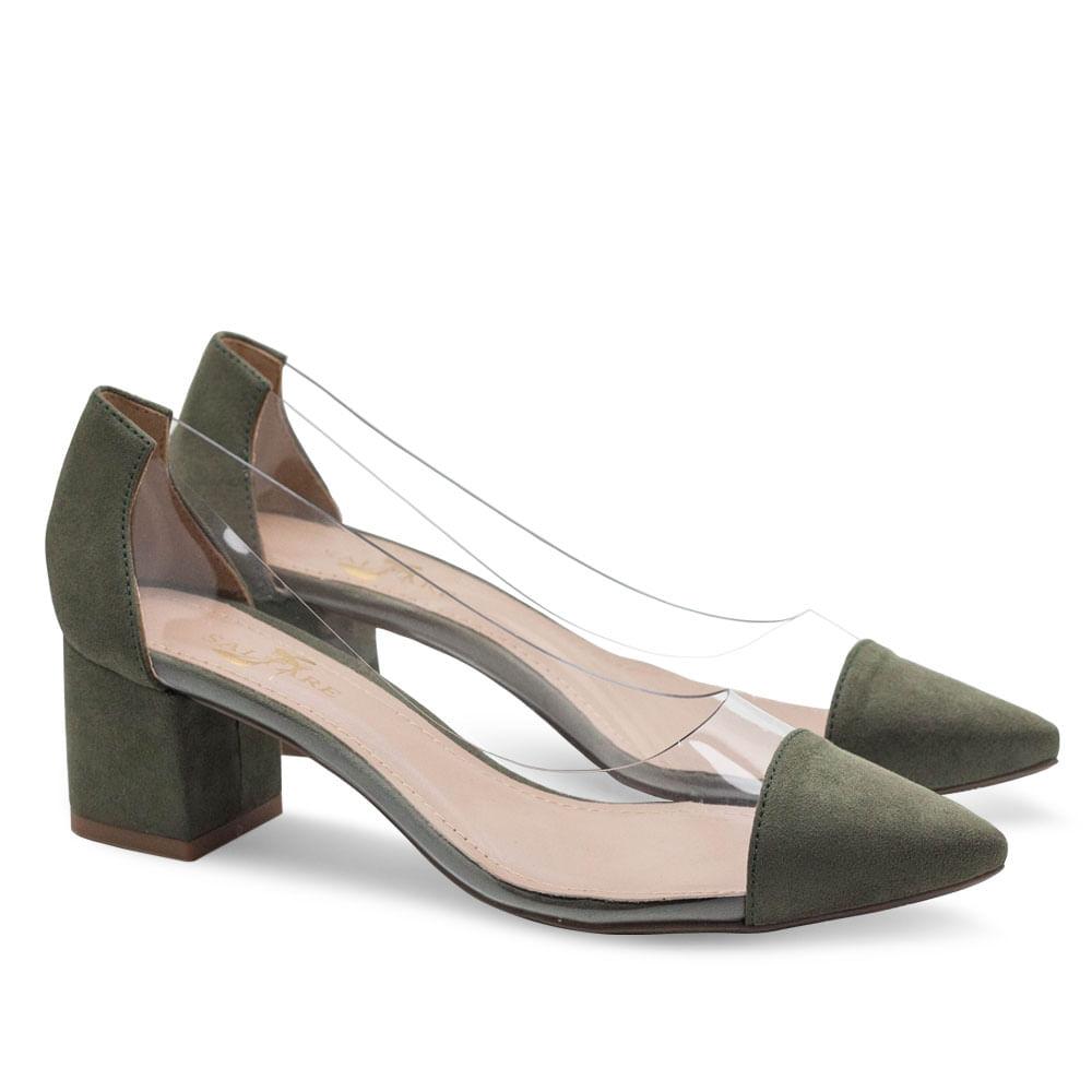 0231477b32 Sapatos Saltare Vinil Bloco Su Verde Militar - Calçados Femininos ...