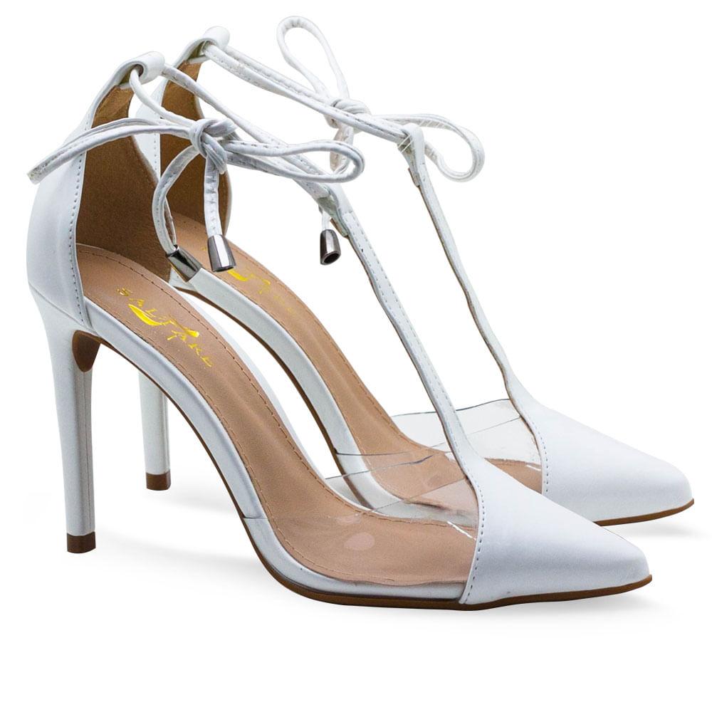 13636362cf Sapatos Saltare Vinil 3 New Np Branco - Calçados Femininos Saltare