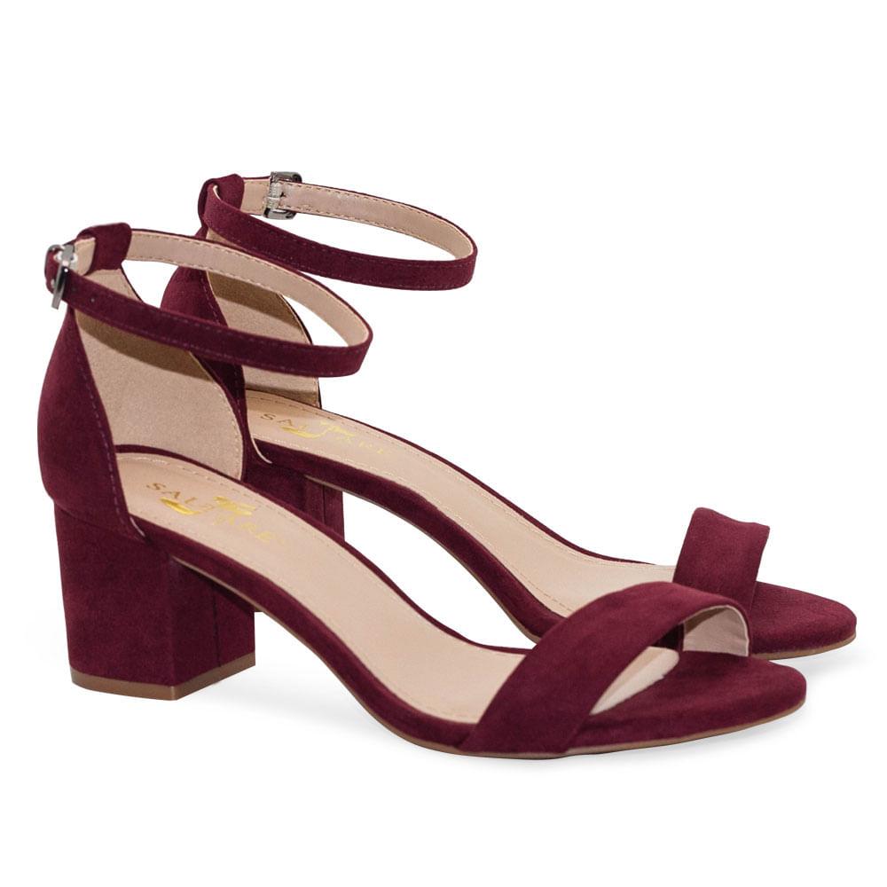 cb9cc333b2 Sandalias Saltare Amarro New Bordo - Calçados Femininos Saltare