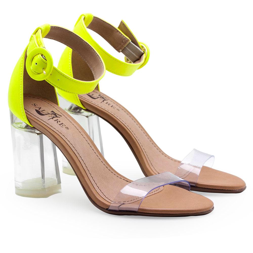 cd2bca328 Sandalias Saltare Cristal 1 Limão - Calçados Femininos Saltare