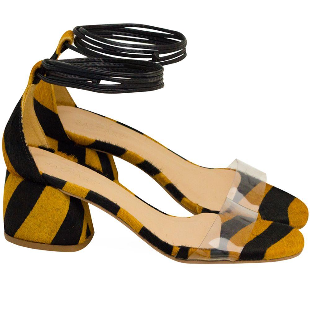 Sandalias Saltare Raquel Zebra Caramelo - Calçados