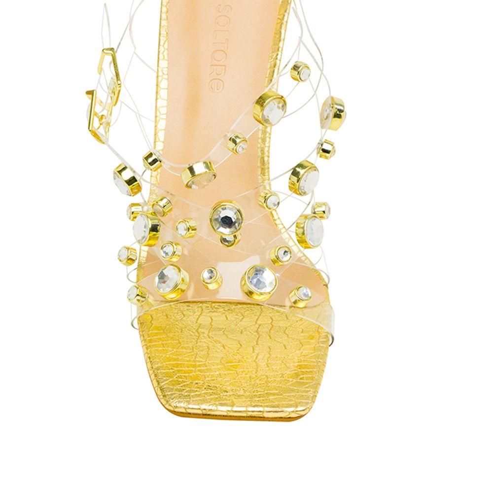 Sandalias Saltare Paige Porcelana - Calçados Femininos Saltare