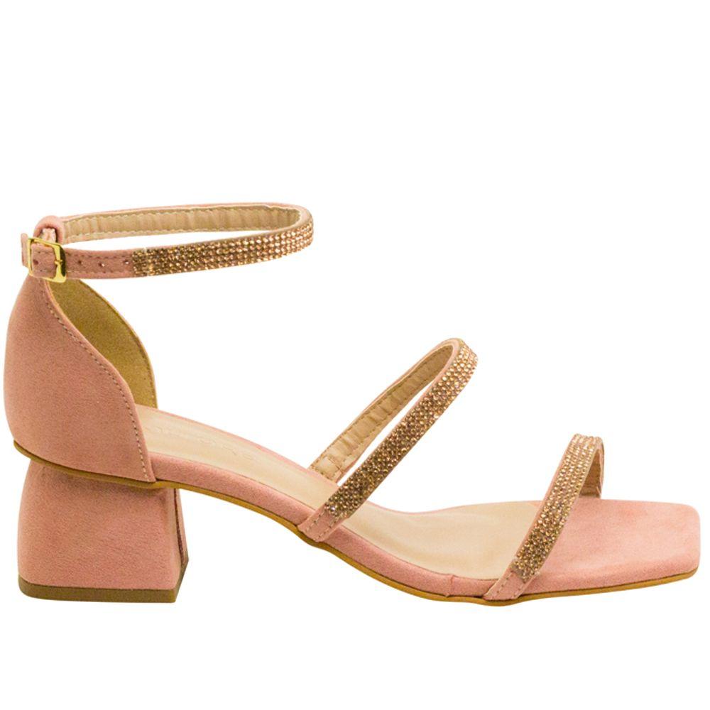 Sandalias Saltare Paige Ouro - Calçados Femininos Saltare